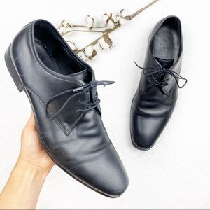 ALDO | Men's Black Oxford Lace Leather Dress Shoes